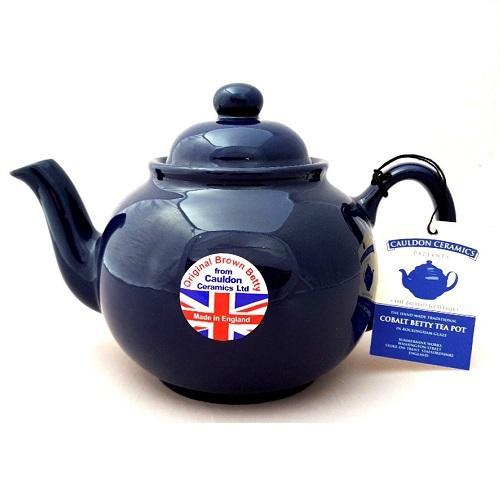 Hand made Original 6 Cup Brown Betty Teapot in Cobalt Blue